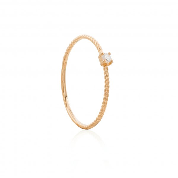 Ring - CZ Twisted