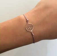 Armband Flower Of Life in rosé