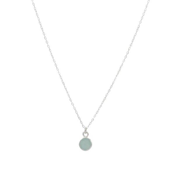 Halskette - Aqua Chalcedon