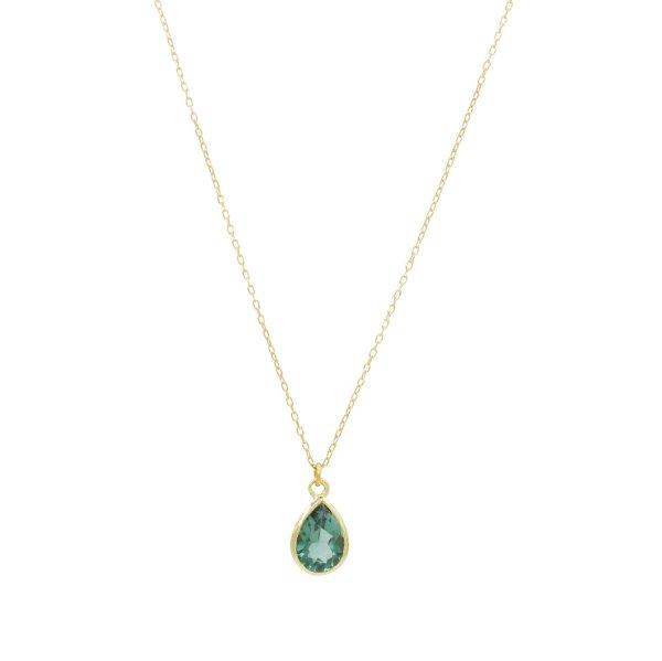 Halskette - Turmalin Drop
